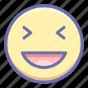 emoji, grinning, xd icon