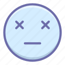 dead, emoji, finish icon