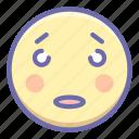 emoji, flushed, surprised icon