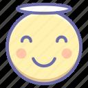 angel, emoji, smile icon