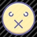 emoji, patch, sealed icon