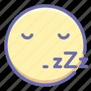 busy, emoji, sleep icon