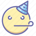 emoji, happy, party icon