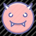 devil, emoji, smile icon