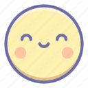 emoji, kawaii, smile icon