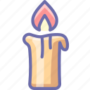 candle, fire