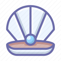 jewel, pearl, shell icon