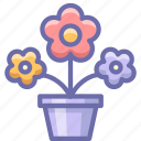 flowers, pot, present icon