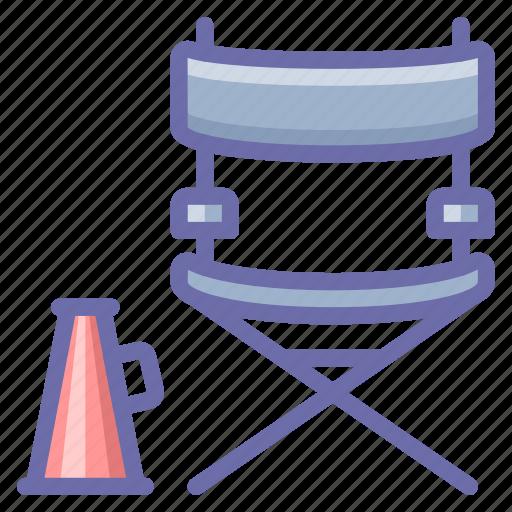 chair, cinema, director icon