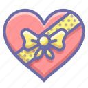 chocolate, present, romance icon