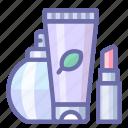 cosmetics, present, set icon