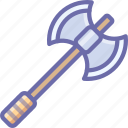 axe, military, viking, war, weapon icon