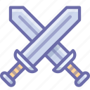 attack, battle, swords icon
