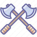 axes, battle, guard icon