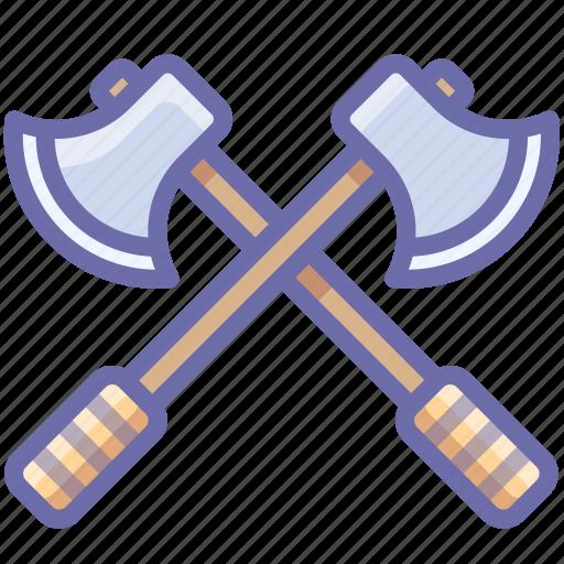 axes, battle, guard icon