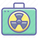 nuclear, suitcase icon