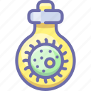 bacteria, mass weapon, tube icon