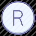 mark, trademark, logo, registered icon
