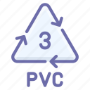 chloride, polyvinyl, pvc, recyclable icon