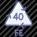 fe, ferrum, recyclable icon