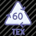 cotton, recyclable, tex icon