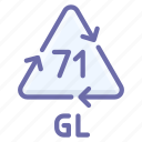 gl, glass, recyclable icon