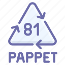 composite, materials, pappet, recyclable icon