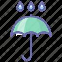 moisture, protect, umbrella icon