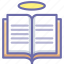 book, holy, scription icon
