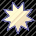 bab, bahai, nectagon icon