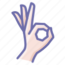 cool, gesture, ok icon