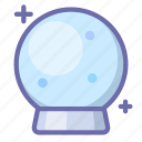 crystal, ball, magic icon