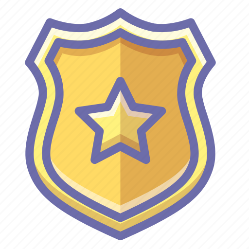 police, sheriff, shield icon