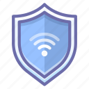 connection, firewall, internet, protect, security, shield, wifi icon