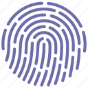 access, fingerprint, id, identity, lock, security, touch icon