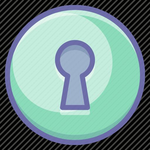 keyhole, private, secret icon
