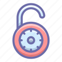 padlock, protection, unlock icon