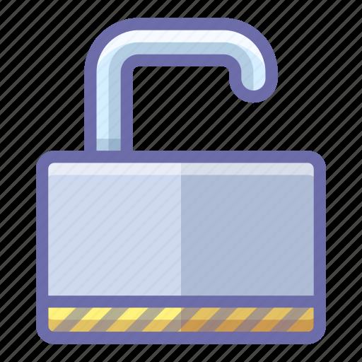 padlock, protection, unlock icon