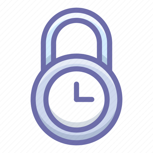 lock, protection, time icon
