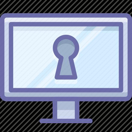 display, keyhole, secret icon