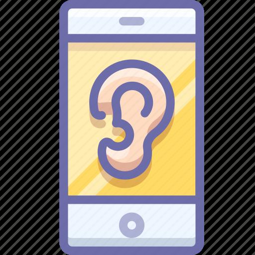 smartphone, spy, virus icon
