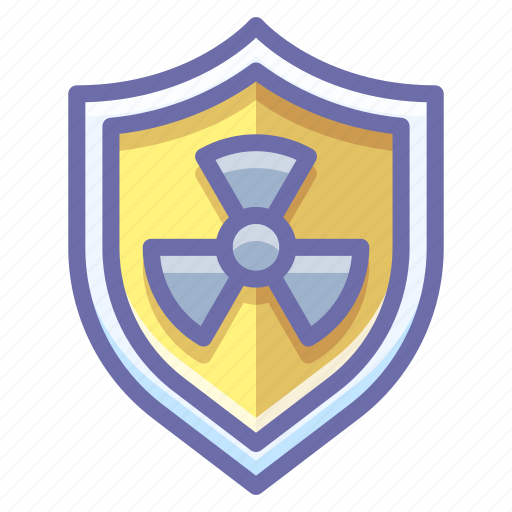 nuclear, radiation, shield icon