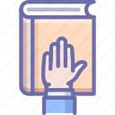 bibble, hand, swear icon