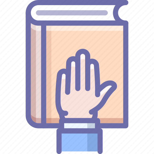 bibble, hand, swear icon