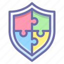 complex, puzzle, security icon