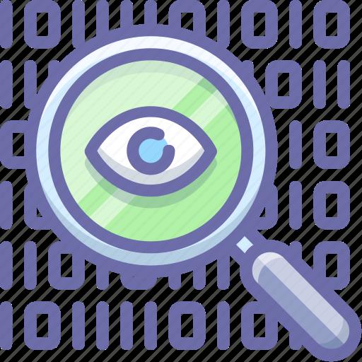 data, encryption, inspect icon