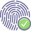 biometric, fingerprint, touch icon