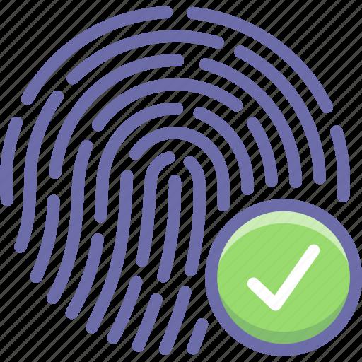 biometric, fingerprint, touch icon