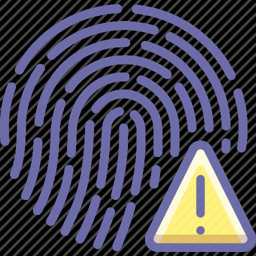 biometric, fingerprint, scan icon