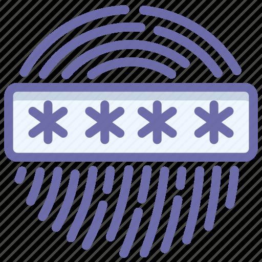 biometric, fingerprint, password icon